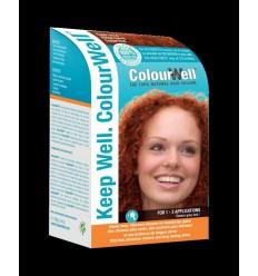 Haarverf Colourwell 100% natuurlijke haarkleur koper rood 100
