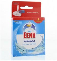 Toiletreinigers & Verfrissers WC Eend Blok ocean fresh navul 40