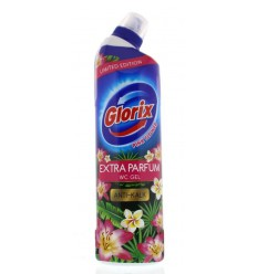 Glorix WC Powergel pink flower 750 ml | Superfoodstore.nl