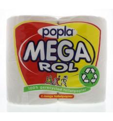 Popla Toiletpapier megarol 400 vel 4 rollen | € 4.86 | Superfoodstore.nl