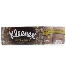 Kleenex Ultrasoft zakdoek 10 stuks   Superfoodstore.nl