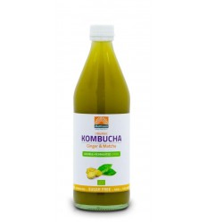 Mattisson Kombucha ginger & matcha double fermented bio 500 ml | € 3.50 | Superfoodstore.nl