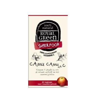 Royal Green Camu camu vitamine C 60 vcaps | € 13.59 | Superfoodstore.nl