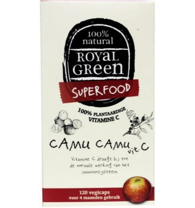 Royal Green Camu camu vitamine C 120 vcaps | € 24.99 | Superfoodstore.nl