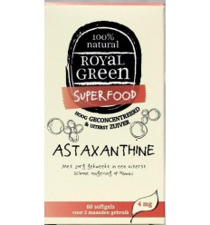 Royal Green Astaxanthine 60 softgels | € 21.49 | Superfoodstore.nl