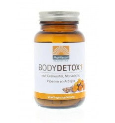 Mattisson Body Detox 1 met o.a. geelwortel 60 capsules | € 14.95 | Superfoodstore.nl