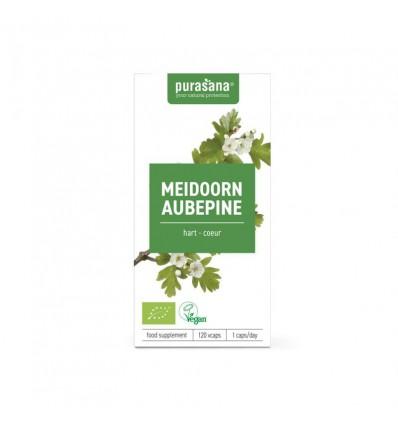 Purasana Bio meidoorn 355 mg 120 vcaps | € 12.86 | Superfoodstore.nl