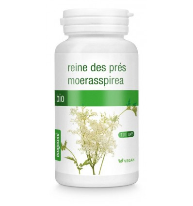 Purasana Bio moerasspirea 220 mg 120 vcaps | € 12.86 | Superfoodstore.nl