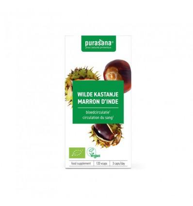 Purasana Bio wilde kastanje 240 mg 120 vcaps   Superfoodstore.nl