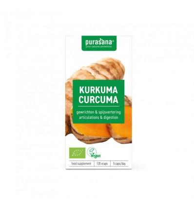 Purasana Bio curcuma 325 mg 120 vcaps | Superfoodstore.nl