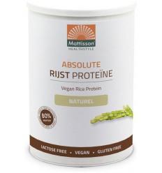 Mattisson Absolute rijst proteine poeder vegan 80% 400 gram |