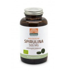 Mattisson Spirulina 500 mg bio 240 tabletten | Superfoodstore.nl