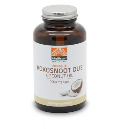 Mattisson Absolute kokosnoot olie 1000 mg 120 softgels | € 13.35 | Superfoodstore.nl
