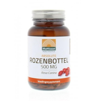 Mattisson Absolute rozenbottel 500 mg 90 capsules | € 15.84 | Superfoodstore.nl
