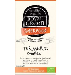 Royal Green Turmeric complex 60 vcaps | € 15.69 | Superfoodstore.nl