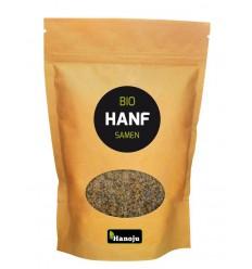Hanoju Bio hennep zaden paper bag 500 gram | Superfoodstore.nl