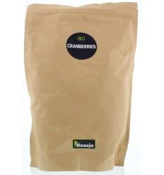 Hanoju Bio cranberries paper bag 1 kg | Superfoodstore.nl