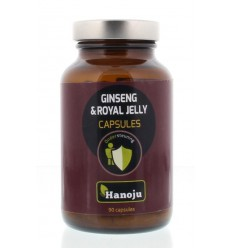 Hanoju Royal jelly ginseng 500 mg 90 vcaps | € 13.35 | Superfoodstore.nl