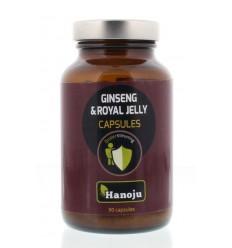 Hanoju Royal jelly ginseng 500 mg 90 vcaps | Superfoodstore.nl