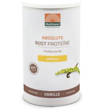 Mattisson Absolute Rijst Proteine vanille 500 gram |