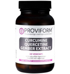 Proviform Curcumine quercetine gember extract 60 vcaps |