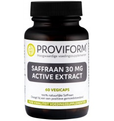 Proviform Saffraan 30 mg active extract 60 vcaps | € 20.35 | Superfoodstore.nl