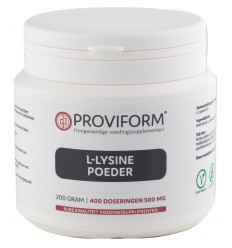 Proviform L-Lysinepoeder 200 gram | € 16.66 | Superfoodstore.nl