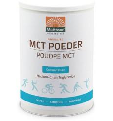 Mattisson MCT Poeder coconut pure 350 gram | Superfoodstore.nl