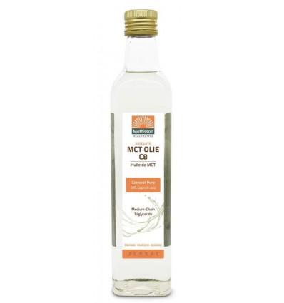 Mattisson MCT olie C8 - 500ml - Coconut pure - 99% caprylic