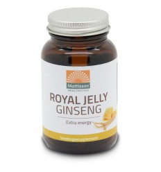 Mattisson Ginseng+ royal jelly 60 capsules | € 13.99 | Superfoodstore.nl