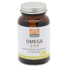 Mattisson Omega 3 6 9 vis teunisbloem lijnzaad 60 capsules |