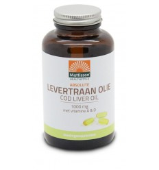 Mattisson Levertraanolie 1000 mg met vitamine A/D 120 capsules