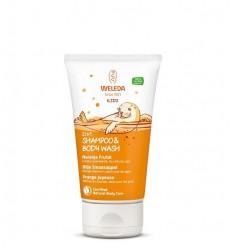 Bad & Douchegel Weleda Kids 2 in 1 shampoo & body wash blije