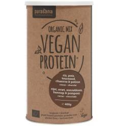 Purasana Vegan rijst erwt zonnebl pomp hennep proteine 400 gram