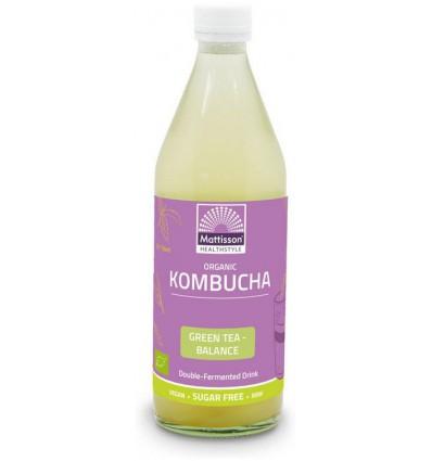 Mattisson Kombucha green tea - balance 500 ml | € 3.50 | Superfoodstore.nl