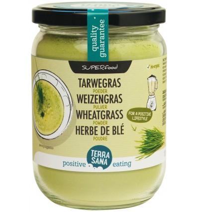 Terrasana Raw tarwegras poeder in glas 130 gram | € 7.16 | Superfoodstore.nl