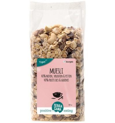 Terrasana Muesli 40% noten & vruchten & zaden 450 gram kopen