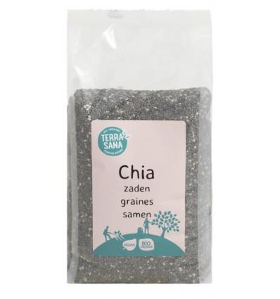 Terrasana RAW Chia zaad zwart 300 gram   Superfoodstore.nl