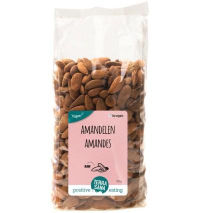 Amandelen Terrasana RAW bruin 750 gram kopen