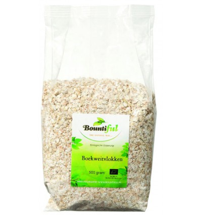 Ontbijtgranen Bountiful Boekweit vlokken glutenvrij 500 gram kopen