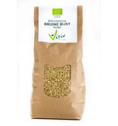 Vitiv Rijst bruin rond 1 kg | Superfoodstore.nl