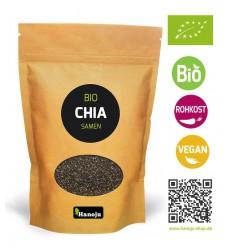Hanoju Bio chia zaad paper bag 1 kg | Superfoodstore.nl