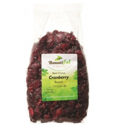 Bountiful Cranberry bessen 500 gram | Superfoodstore.nl