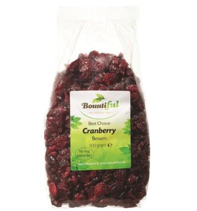 Bountiful Cranberry bessen 500 gram | Superfoodstore.nl