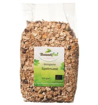 Bountiful Spelt muesli bio 500 gram | Superfoodstore.nl