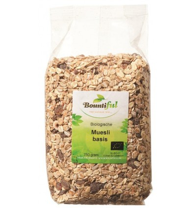 Bountiful Muesli basis bio 750 gram | Superfoodstore.nl