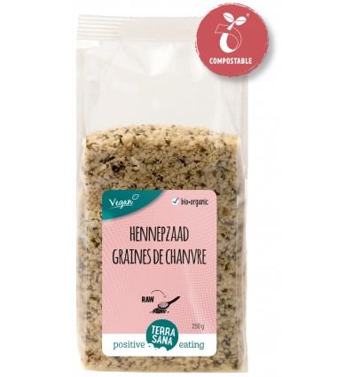 Terrasana RAW Hennepzaad gepeld 250 gram | € 5.18 | Superfoodstore.nl