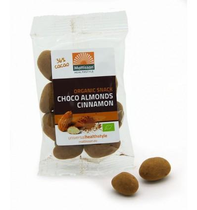 Amandelen Mattisson kaneel snack pure chocolade 35 gram kopen