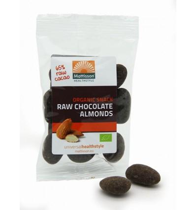 Amandelen Mattisson snack raw puur chocolade 35 gram kopen