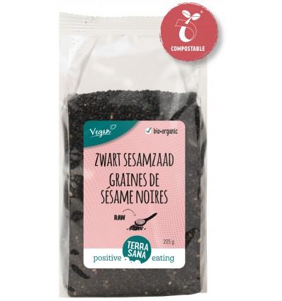 Terrasana RAW sesamzaad zwart ongepeld 225 gram |